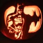 Batman Jack-o-Lantern pumpkin
