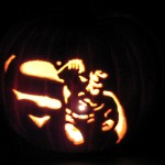 Superman Jack-o-Lantern pumpkin