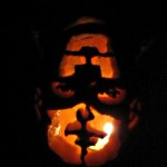 Captain America Jack-o-Lantern pumkin