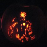 Iron Man Jack-o-Lantern pumpkin