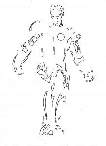 Iron Man Jack-o-Lantern pumkin stencil template